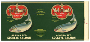 Del Monte  Brand Vintage Salmon Can Label, n