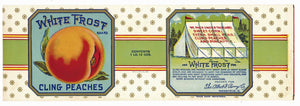 White Frost Brand Vintage Cling Peach Can Label