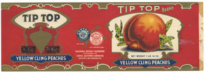 Tip Top Brand Vintage Peach Can Label