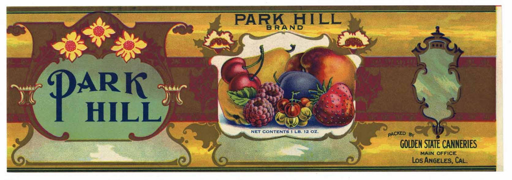 Park Hill Brand Vintage Fruit Can Label