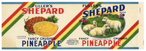 Sheppard Brand Vintage Pineapple Can Label