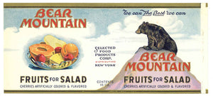 Bear Mountain Brand Vintage Fruit Salad Can Label