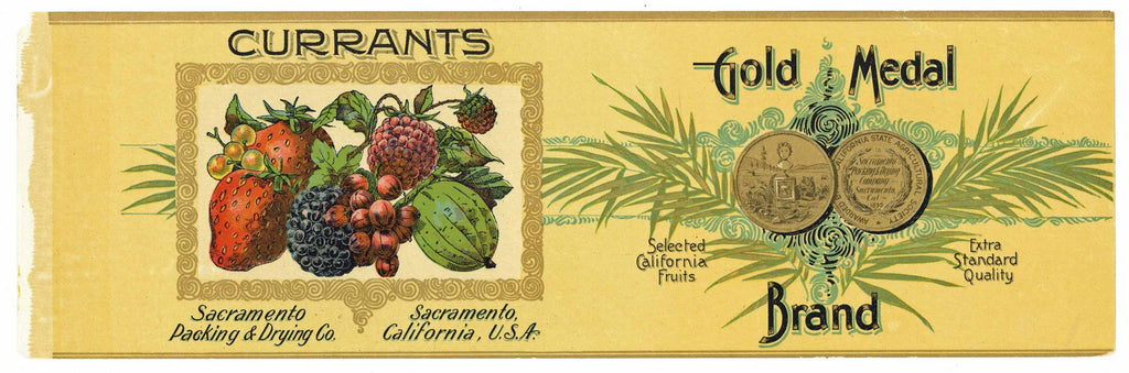 Gold Medal Brand Vintage Sacramento Current Can Label