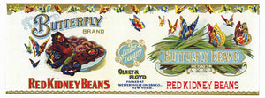 BUTTERFLY Brand Vintage Kidney Bean Can Label (CAN685)