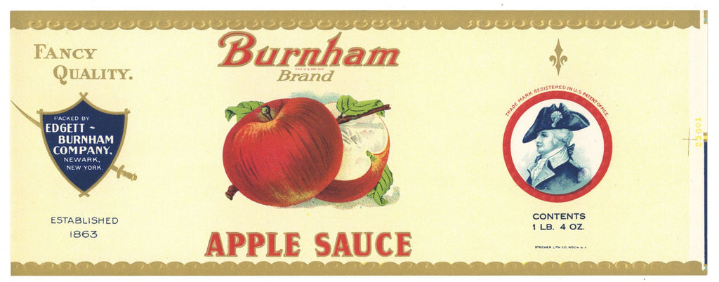 Burnham Brand Vintage Apple Can Label