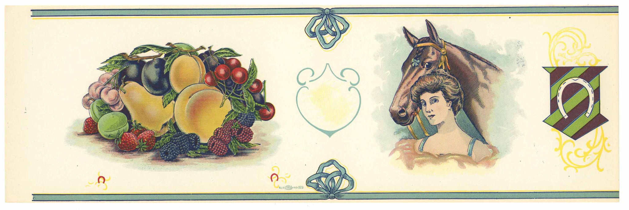 Stock, Girl With Horse, Vintage Fruit Can Label