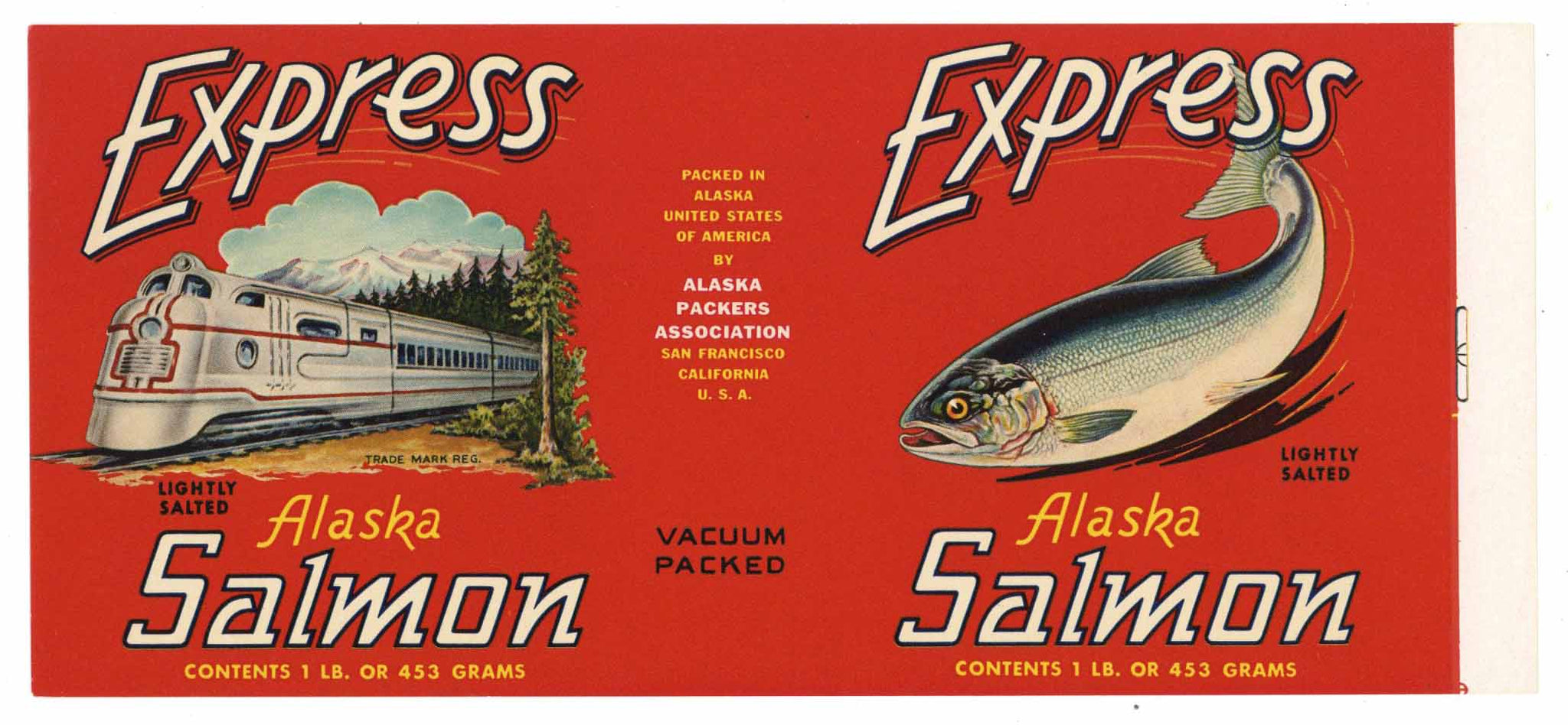 Express Brand Vintage Salmon Can Label n