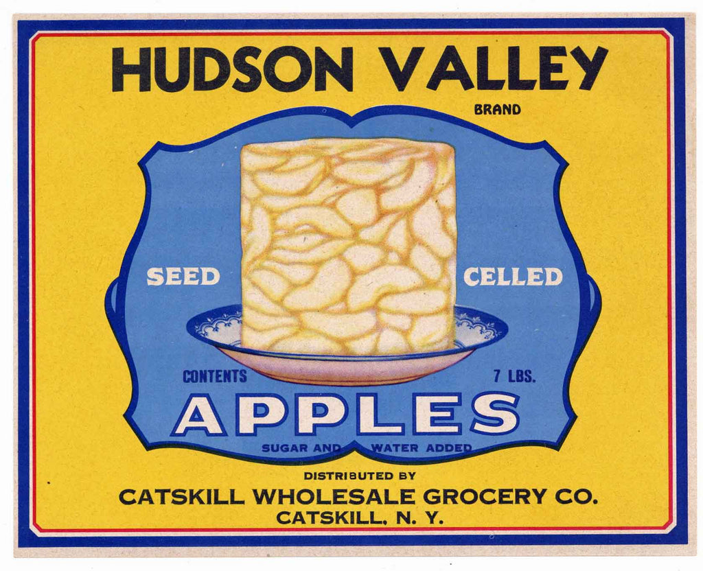 Hudson Valley Brand Vintage Catskill New York Can Label