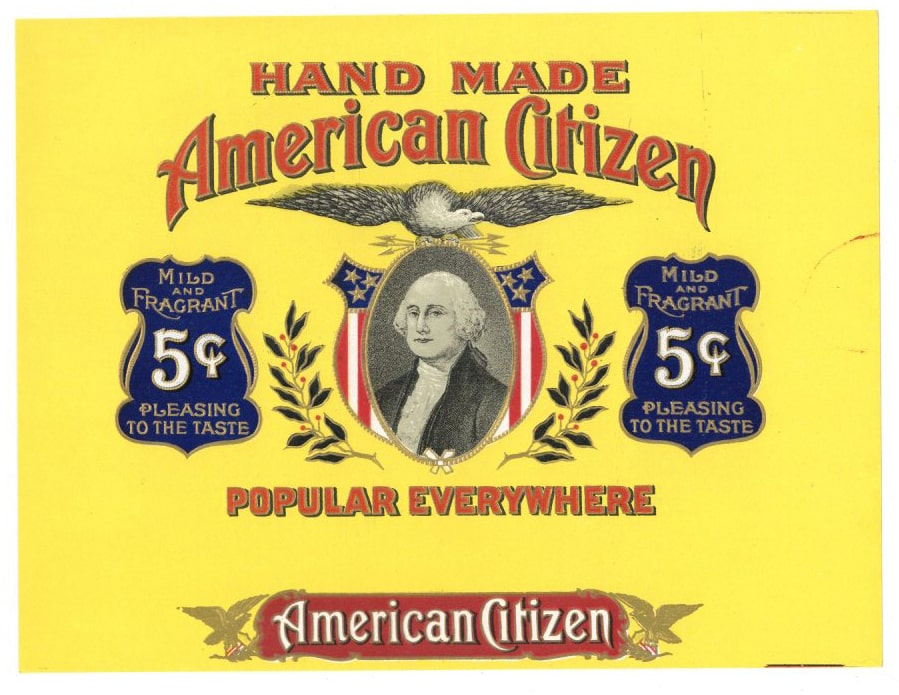 AMERICAN CITIZEN Inner Cigar Box Label (CIG003)