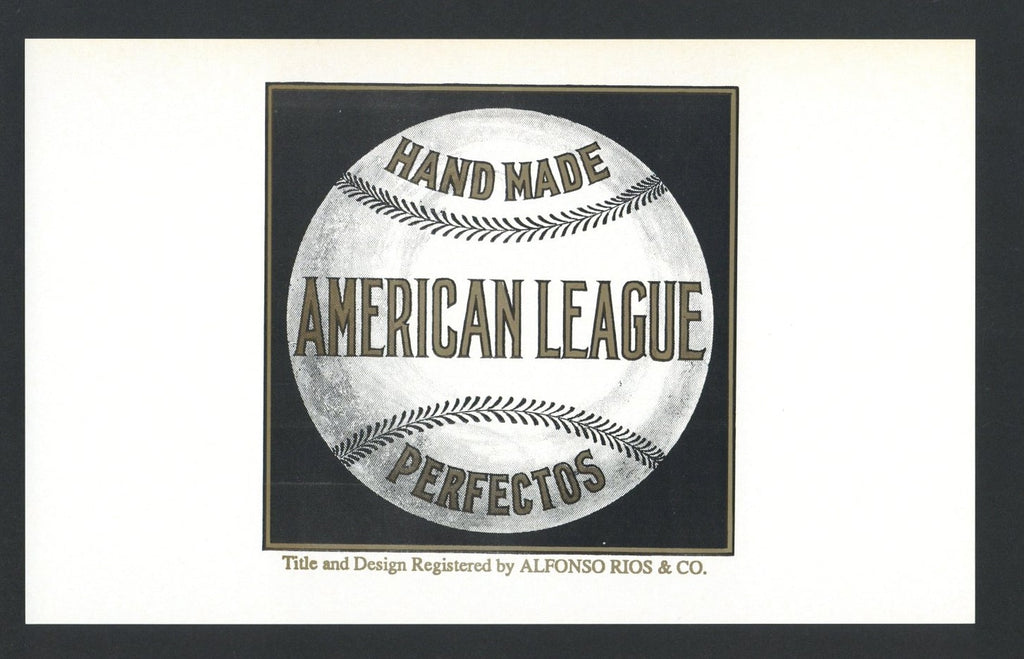 AMERICAN LEAGUE Inner Cigar Box Label (CIG004)
