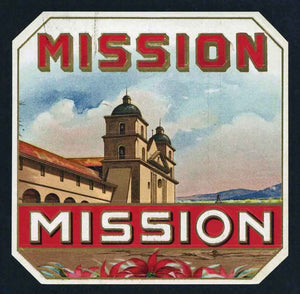 Mission Brand Outer Cigar Box Label