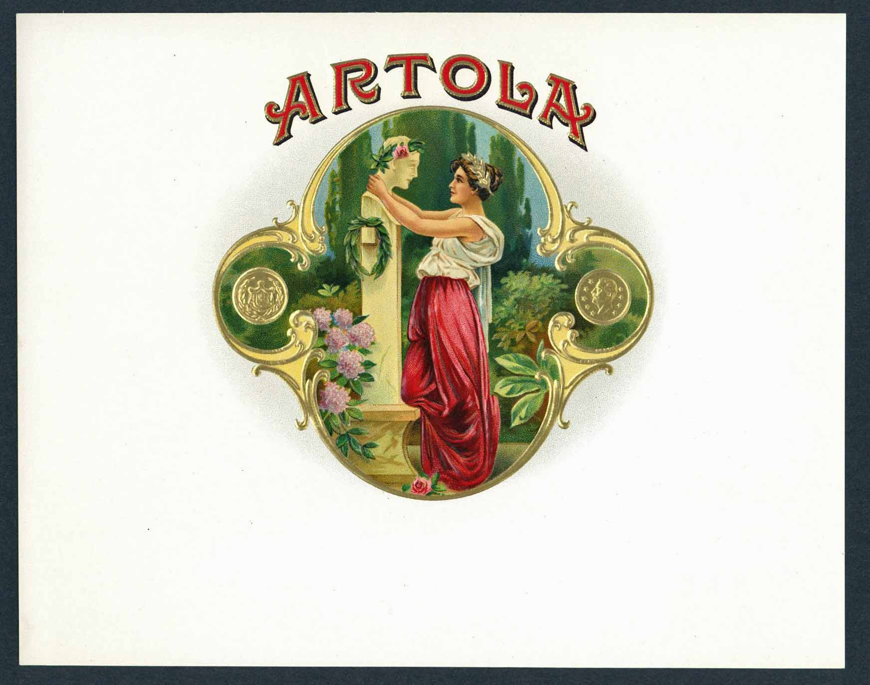 Artola Inner Cigar Box Label