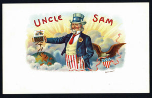 Uncle Sam Brand Inner Cigar Box Label