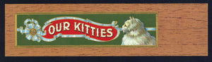Our Kitties Brand Outer Tag Cigar Box Label