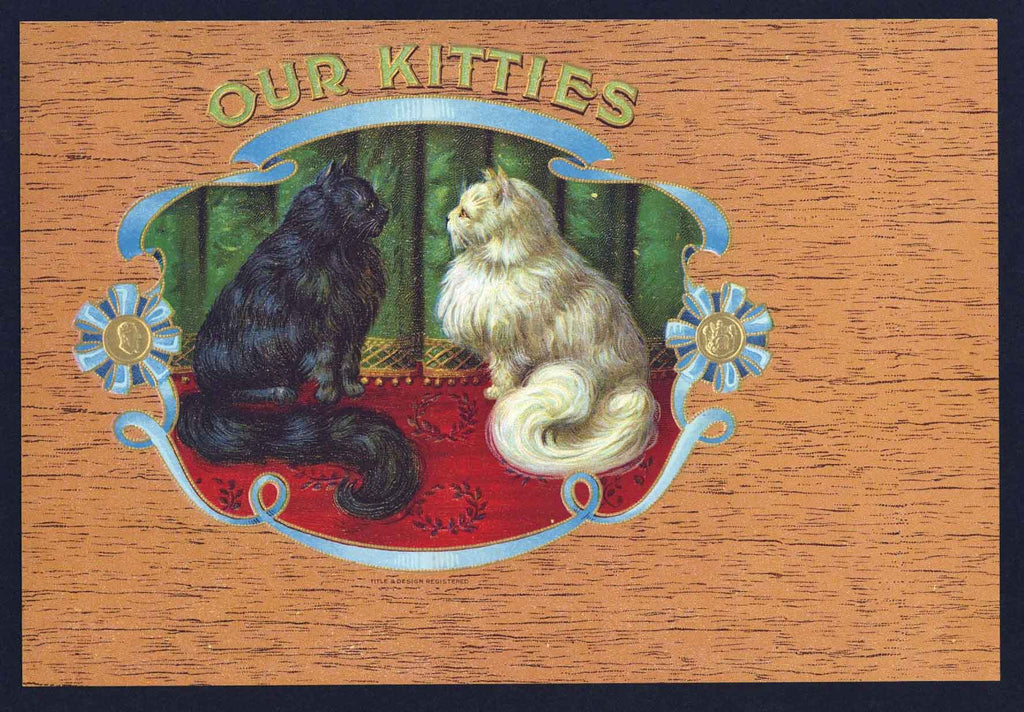 Our Kitties Brand Inner Cigar Box Label