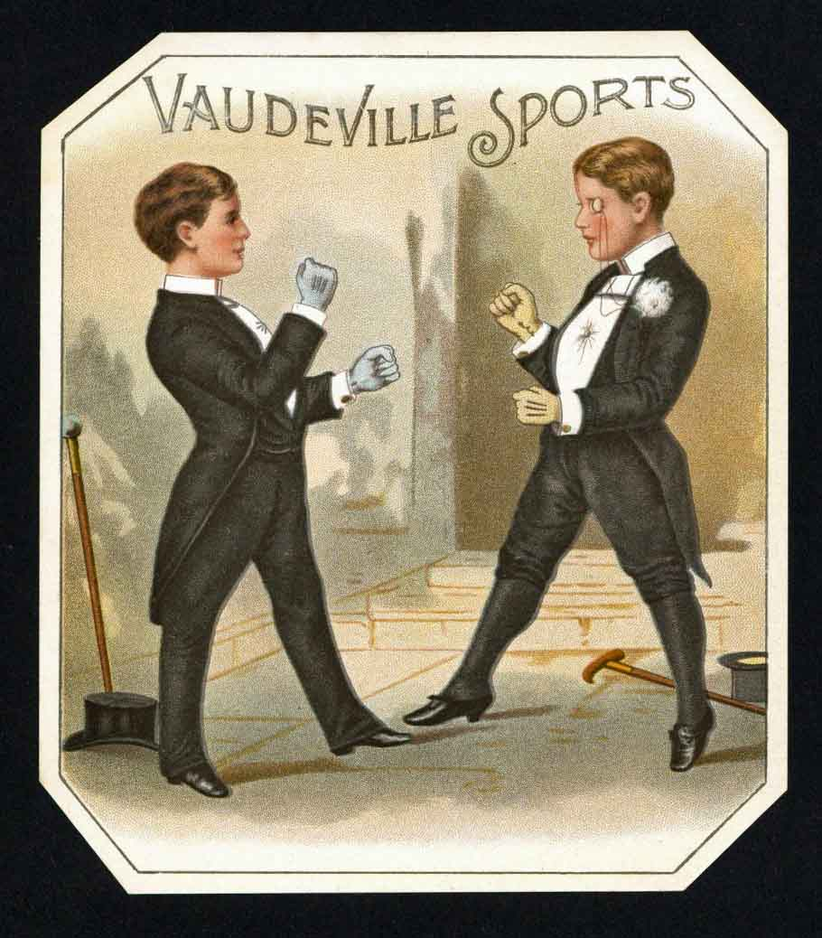 Vaudeville Sports Brand Vintage Outer Cigar Box Label