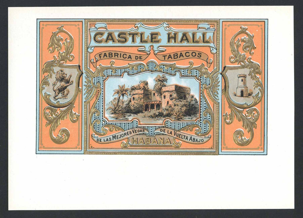 Castle Hall Brand Inner Cigar Label