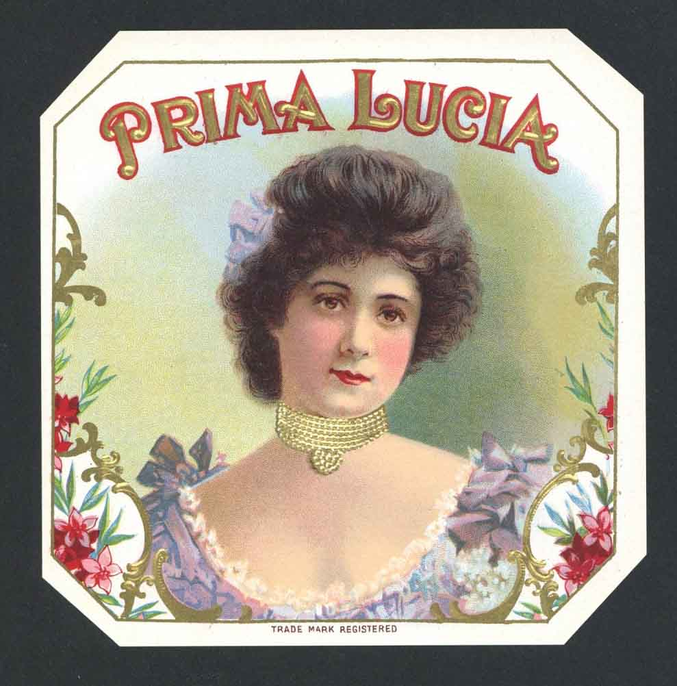 Prima Lucia Brand Outer Cigar Box Label