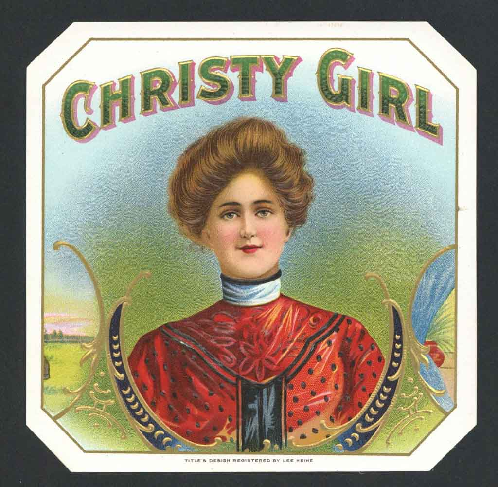Christy Girl Brand Outer Cigar Box Label
