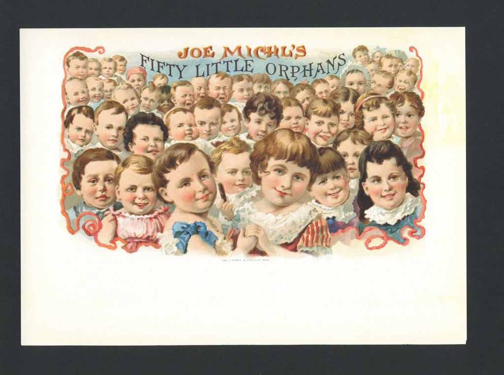 Fifty Little Orphans Brand Inner Cigar Box Label
