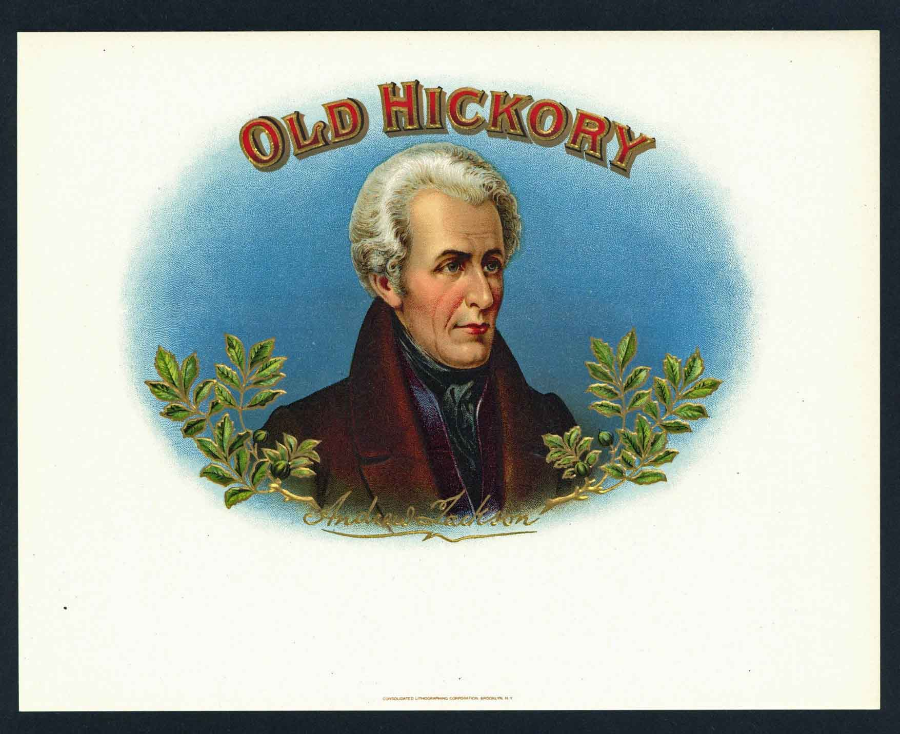 Old Hickory Brand Outer Cigar Box Label