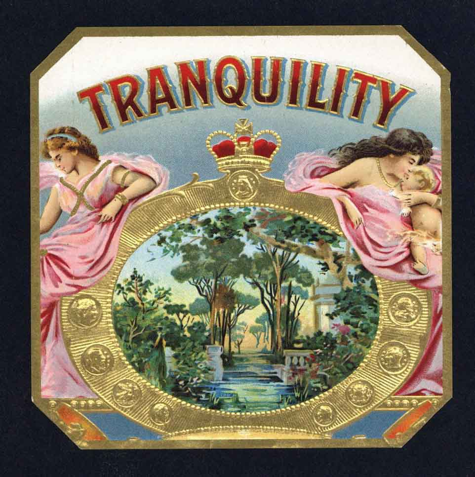 Tranquility Brand Inner Cigar Box Label
