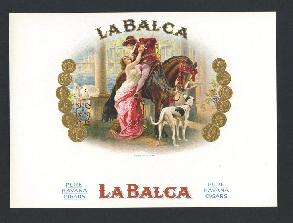 La Balca Brand Inner Cigar Box Label