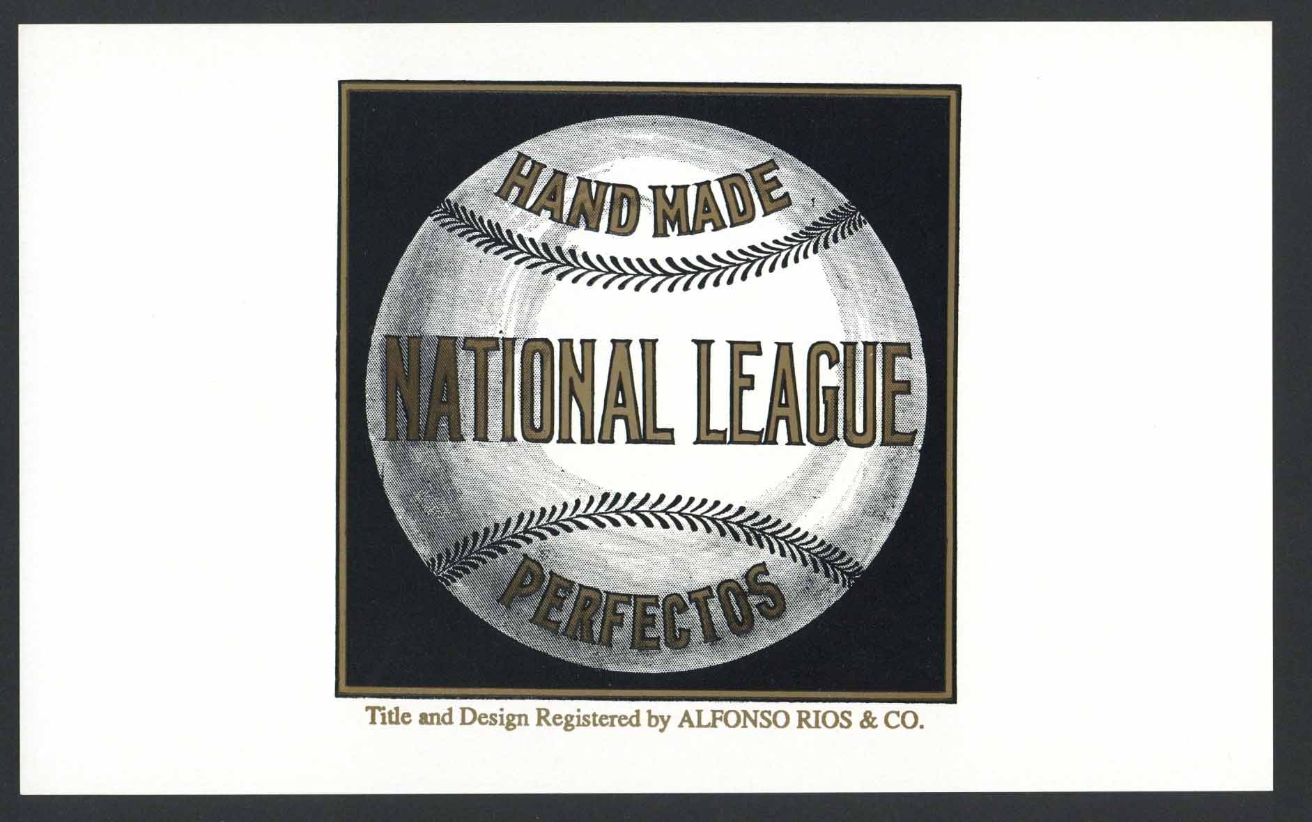 National League Inner Cigar Box Label