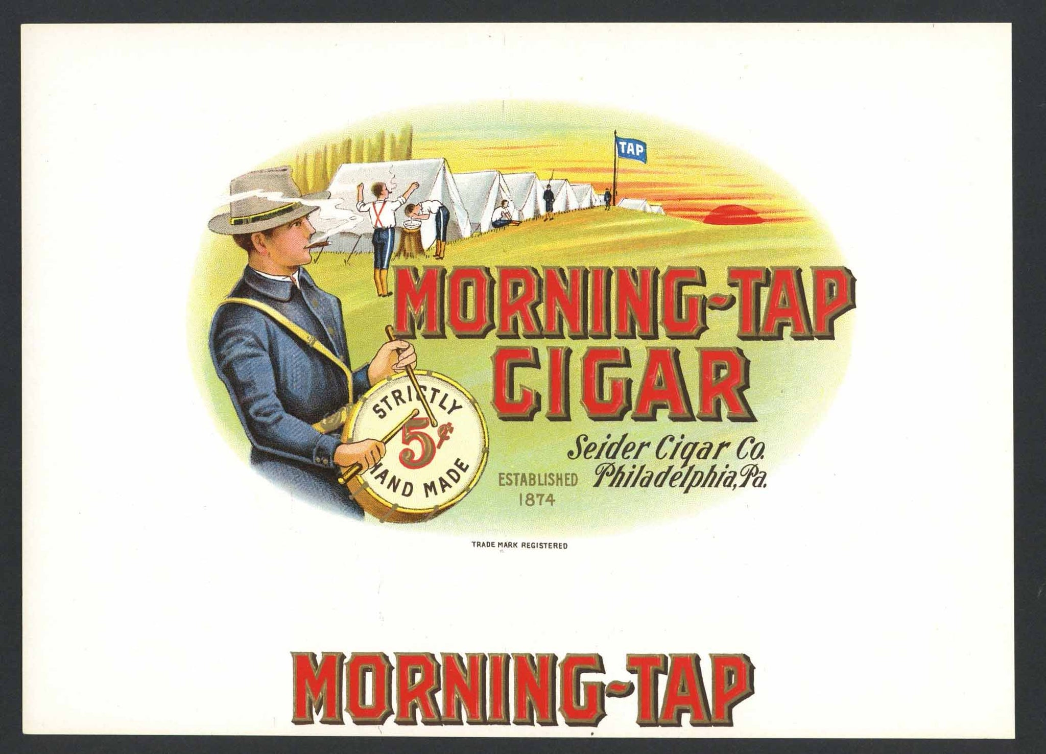 Morning Tap Brand Inner Cigar Box Label