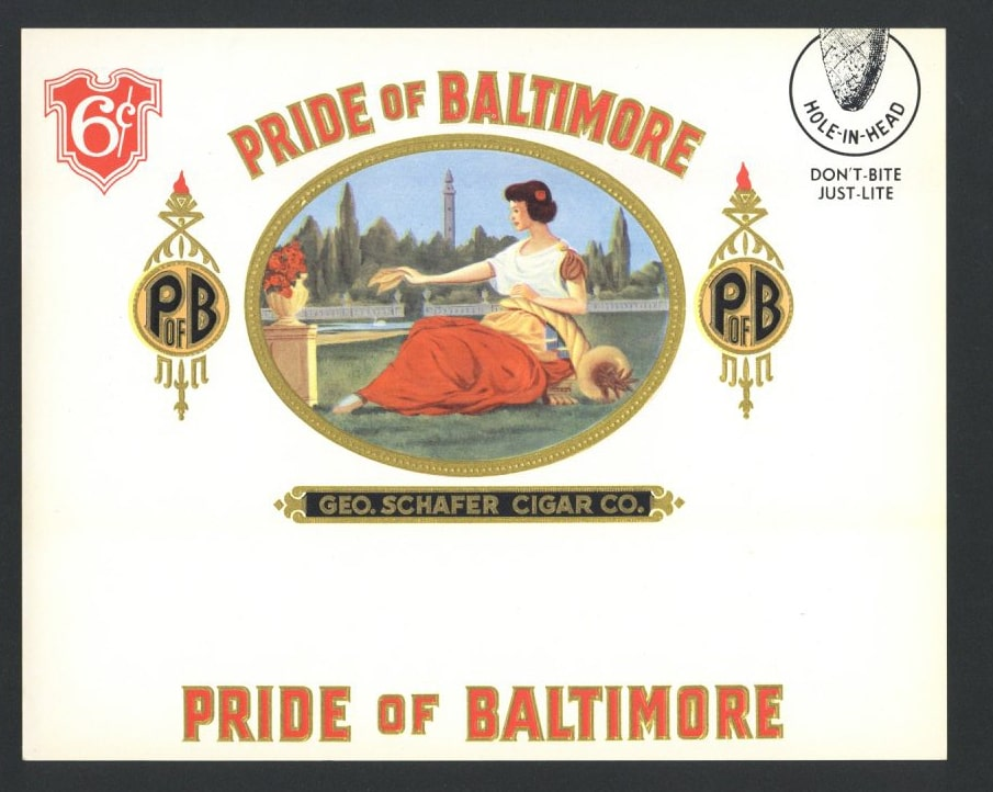 Pride Of Baltimore Inner Cigar Box Label