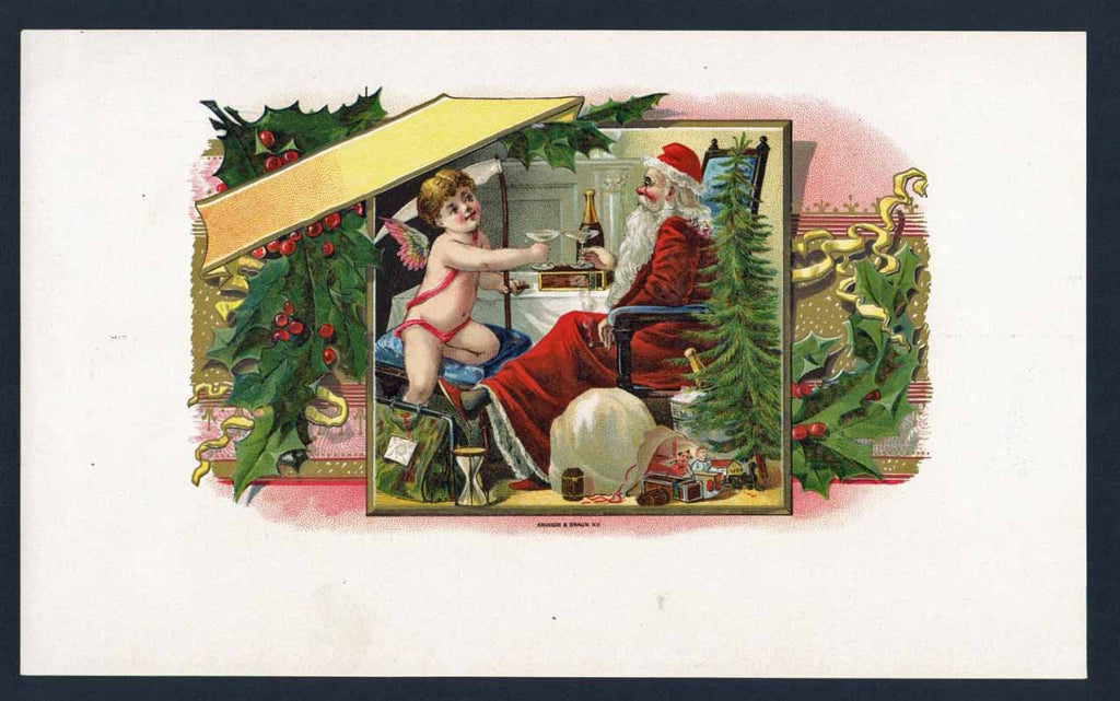 Stock, Santa Claus, Inner Cigar Box Label