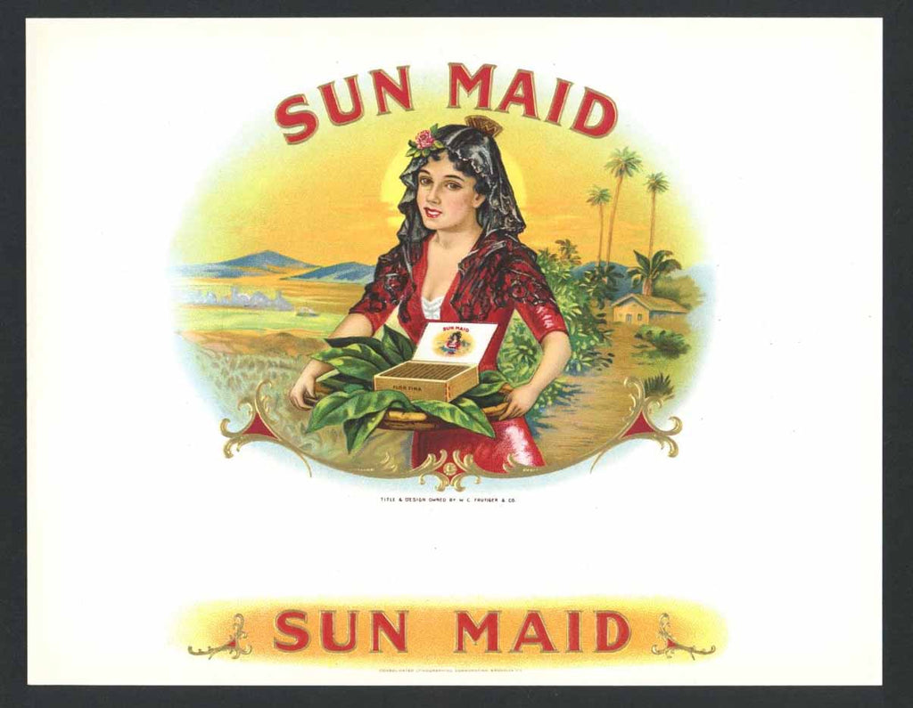 Sun Maid Inner Cigar Box Label