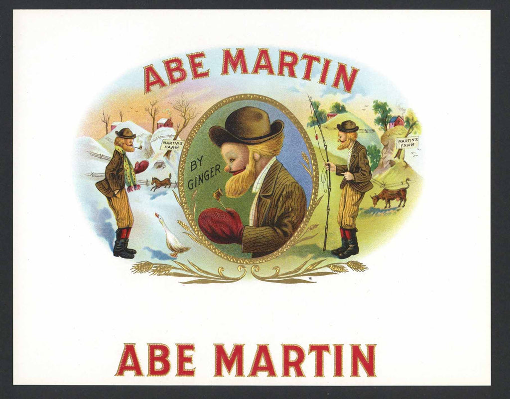 Abe Martin Brand Inner Cigar Box Label