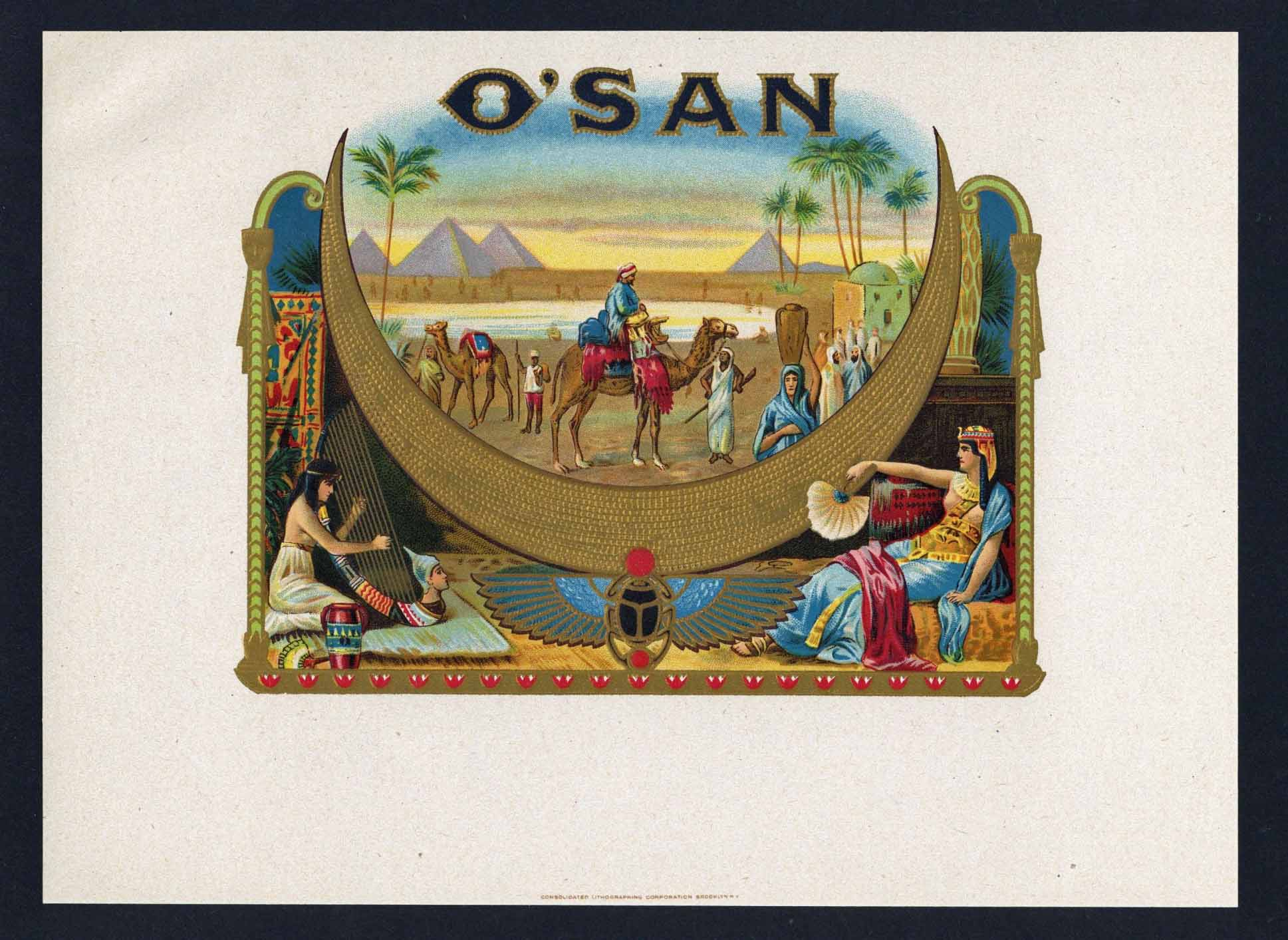 O'San Inner Cigar Box Label