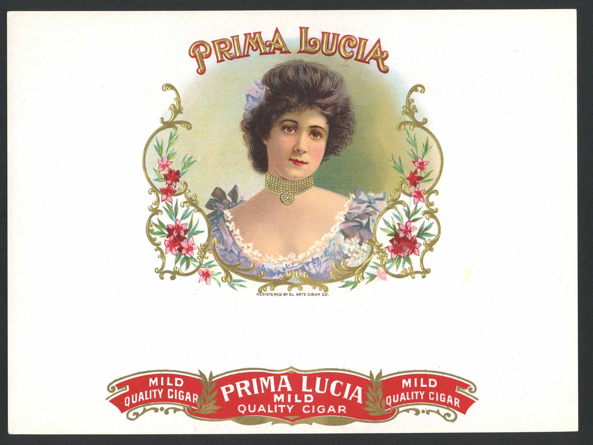 Prima Lucia Brand Inner Cigar Box Label