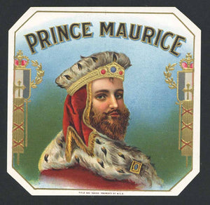 Prince Maurice Brand Outer Cigar Box Label