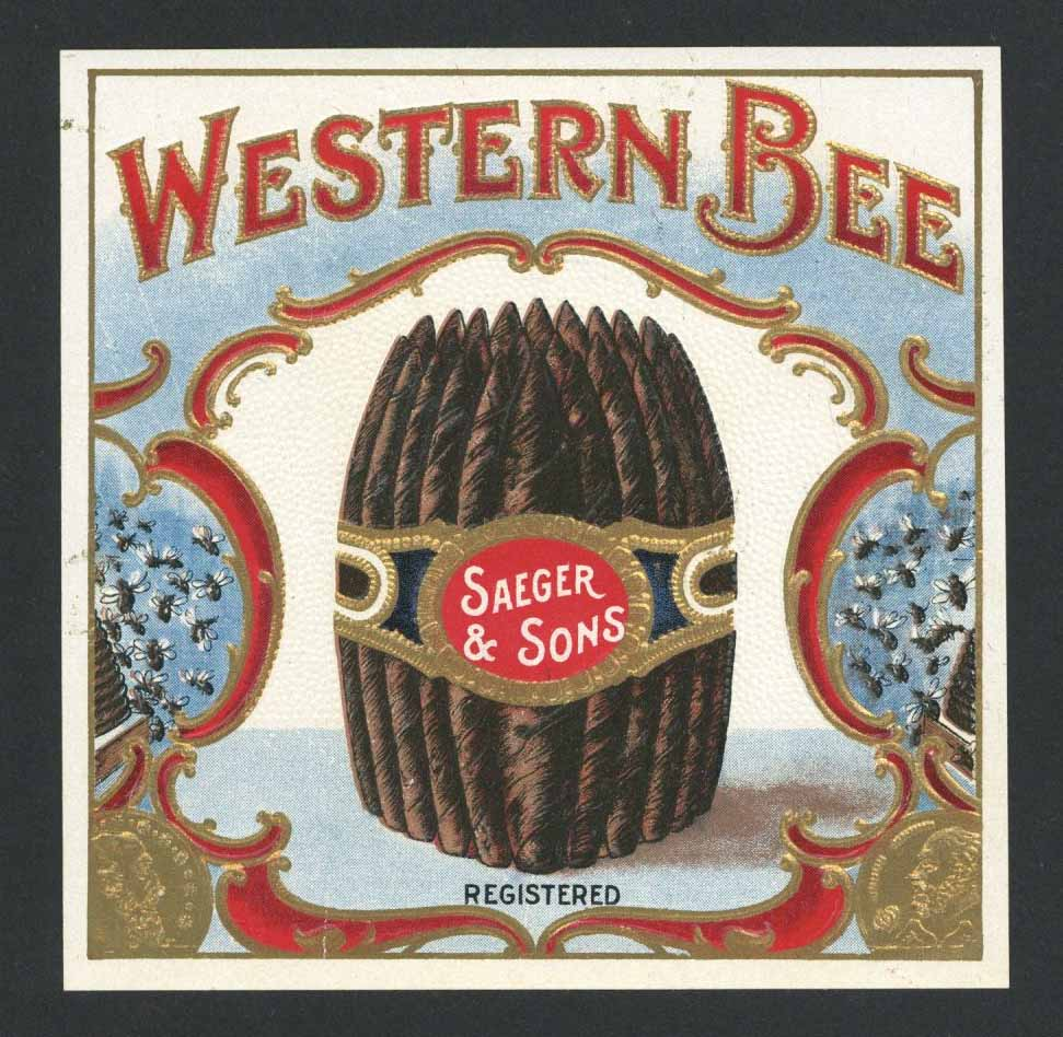 Western Bee Brand Outer Cigar Box Label