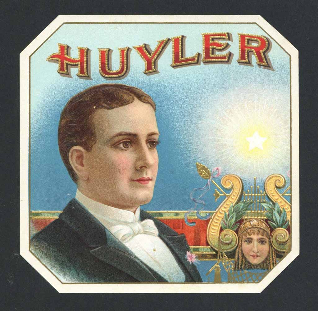 Huyler Brand Outer Cigar Box Label