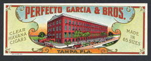 Perfecto Garcia & Bros. Brand Outer Cigar Label