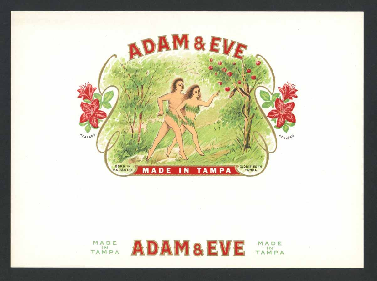 Adam & Eve Inner Cigar Box Label