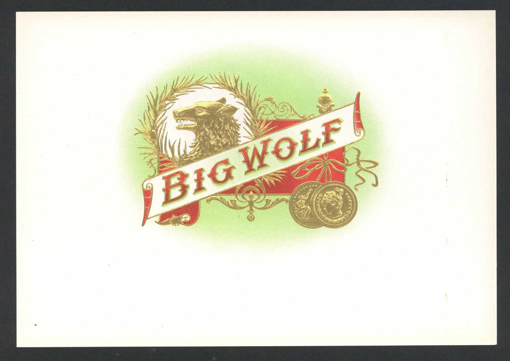 Big Wolf Brand Cigar Top Sheet Label
