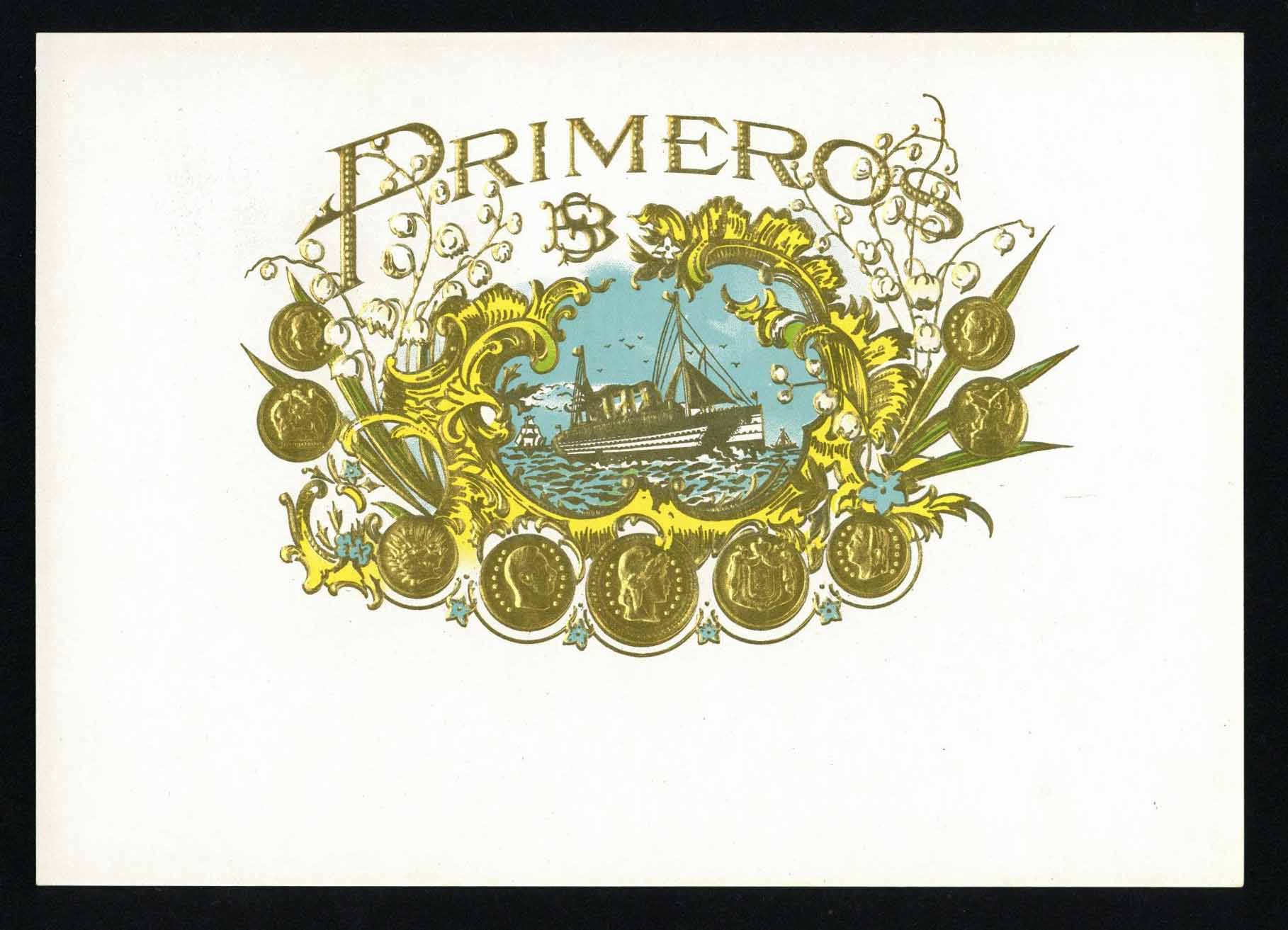 Primeros Inner Cigar Box Label