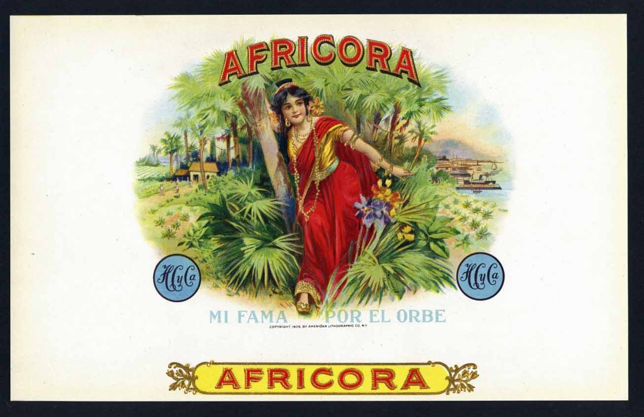 Africora Inner Cigar Box Label