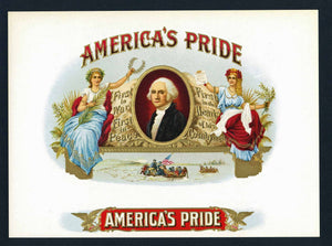 America's Pride Brand Inner Cigar Box Label