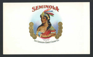 Seminola Inner Cigar Box Label