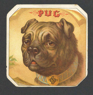 Pug Brand Outer Cigar Label