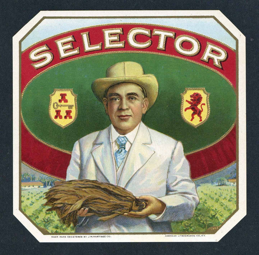Selector Brand outer Cigar Box Label