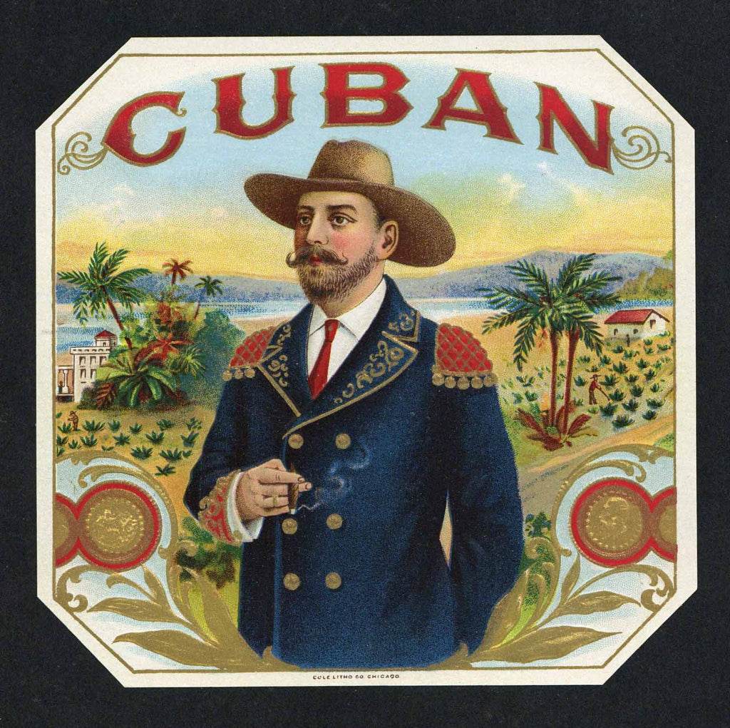 Cuban Brand outer Cigar Box Label