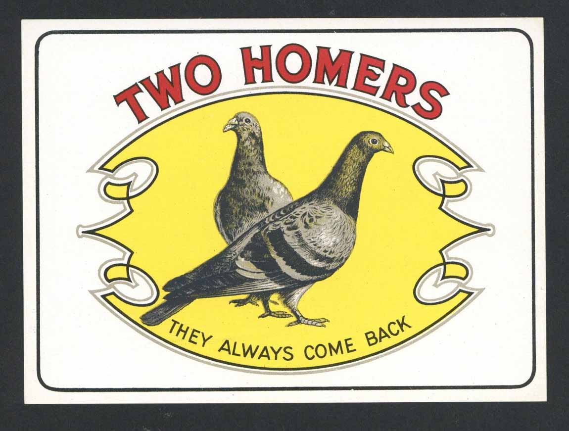 Two Homers Brand Outer Cigar Box Label