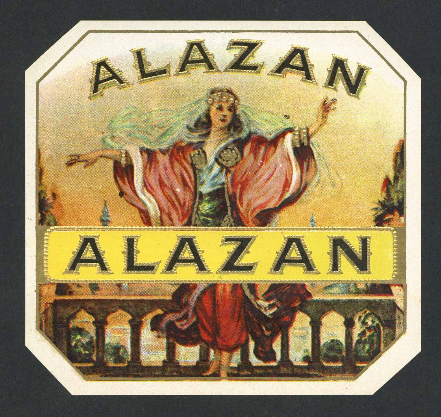 Alazan Brand outer Cigar Box Label